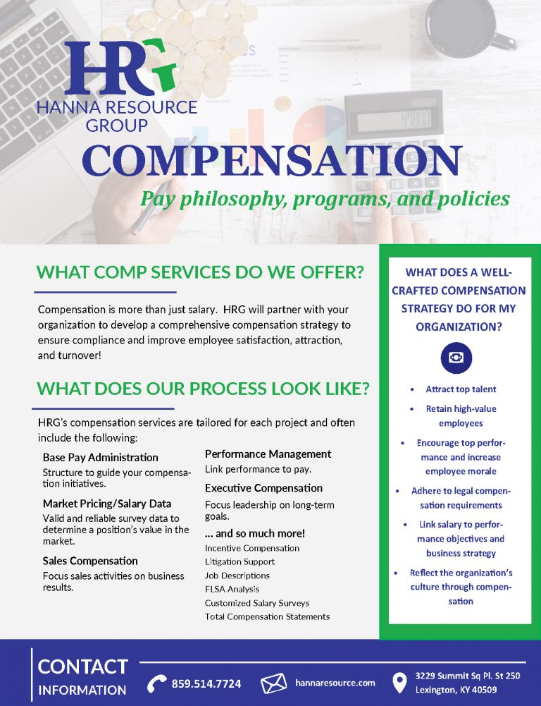 HRG's compensation team has the most current, accurate information & trends on employee compensation in your region.